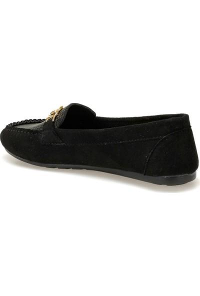 Miss F Dw19006E Siyah Kadın Loafer Ayakkabı