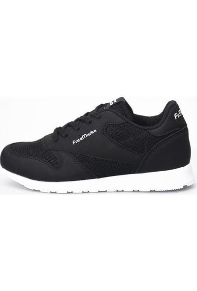 Free Marka 6200 Siyah Beyaz Kadın Spor Ayakkabı