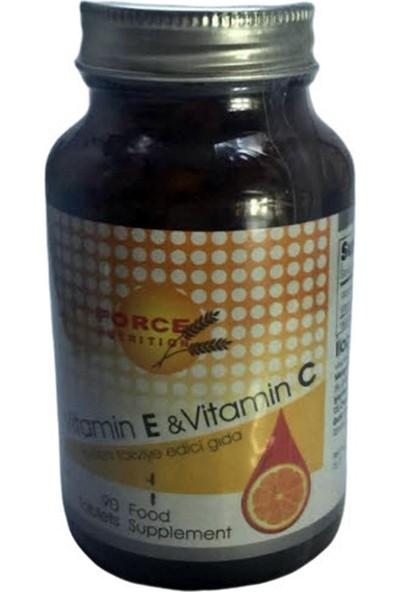 Force Nutrition Vitamin E - Vitamin C 90 Tablet