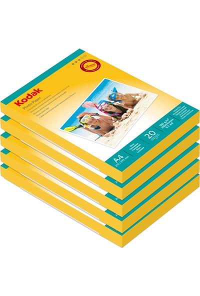 Kodak 180 Gr/m2 20X30-A4 Parlak Fotoğraf Kağıdı 20'li 5 Paket - 100 Adet
