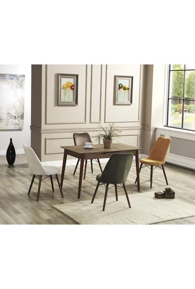 Modelvizyon Wood - Silver Masa Takımı