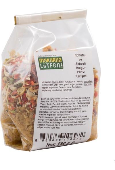 Makarna Lütfen Nohutlu ve Sebzeli Bulgrur Pilavı Karışımı 250 gr