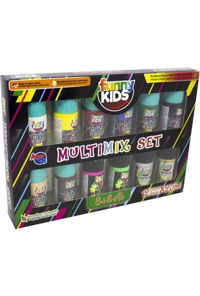 Funny Kids Multi Surface Multimix 20 ml 12'li Set