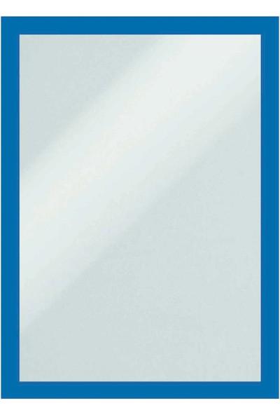 Direct Arkası Mıknatıslı Kenarları Çerçeve Renkli Folyo -Bilgi Cebi A4-Mıknatıs Tutan Her Türlü Yüzeye Yapıştır Kaldır. Mavi Çerçeve Rengi