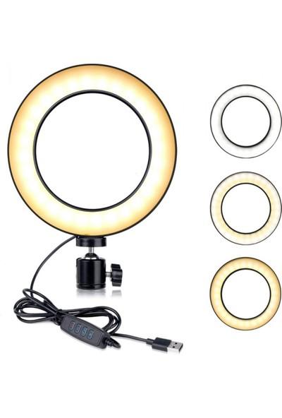 "Blackmarket Kuaför Makyaj Çekimleri Youtube Twitch Ring Light Sürekli 10"" LED"