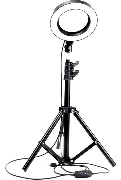 "Blackmarket 12"" Kuaför Makyaj Youtube Çekimleri Ring Light Sürekli 12 Inç Işık 2m Stand"