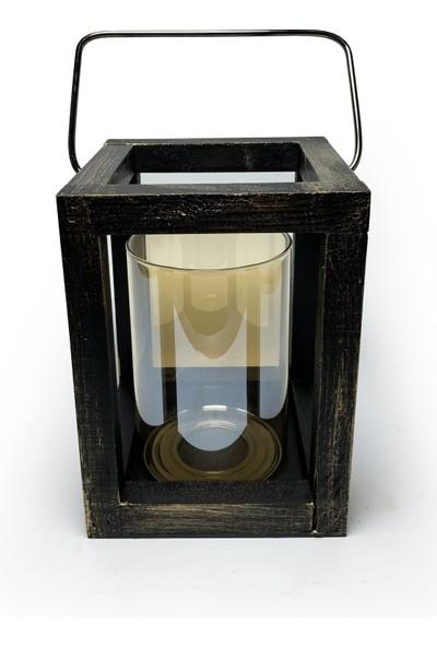 Halk Kitabevi Candle Dark Ahşap Mumluk Hk- 980