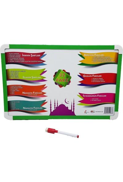 Feskom Arapça Yazı Tahtası 32 Farz Açıklamalı