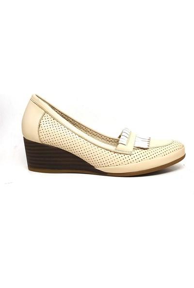 Shop And Shoes 007-118213 Kadın Ayakkabı Bej Sim