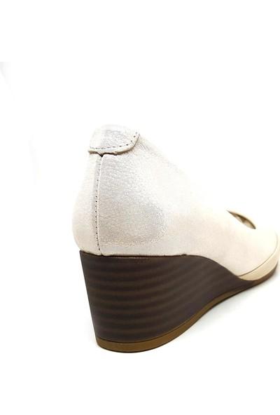 Shop And Shoes 007-118355 Kadın Ayakkabı Bej Sim