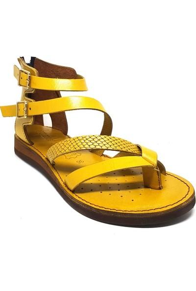 Shop And Shoes 007-147131 Kadın Sandalet Sarı