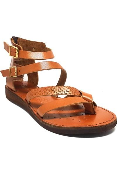 Shop And Shoes 007-147131 Kadın Sandalet Taba