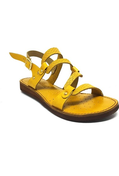 Shop And Shoes 007-14784 Kadın Sandalet Sarı
