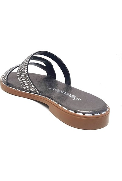 Shop And Shoes 030-240 Kadın Terlik Platin