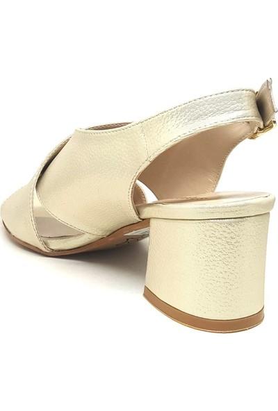 Shop And Shoes 033-1323 Kadın Ayakkabı Altın Sim