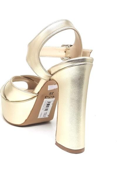 Shop And Shoes 033-1350 Kadın Ayakkabı Altın