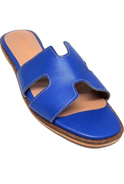 Shop And Shoes 038-222 Kadın Terlik Lacivert