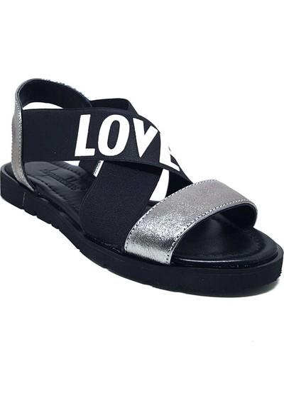 Shop And Shoes 047-2018 Kadın Sandalet Platin