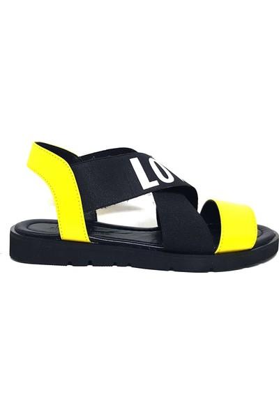 Shop And Shoes 047-2018 Kadın Sandalet Sarı