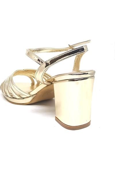 Shop And Shoes 096-100 Kadın Ayakkabı Altın