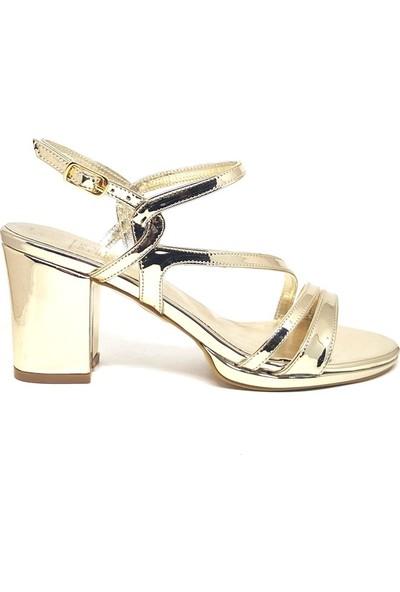 Shop And Shoes 096-602 Kadın Ayakkabı Altın