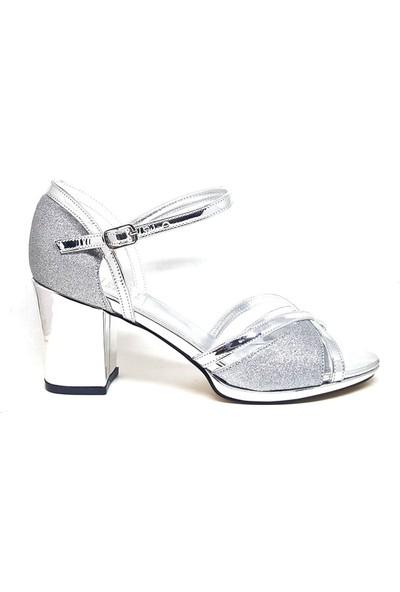 Shop And Shoes 096-604 Kadın Ayakkabı Gümüş