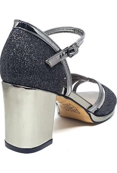 Shop And Shoes 096-604 Kadın Ayakkabı Platin