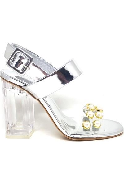 Shop And Shoes 104-81152 Kadın Ayakkabı Gümüş