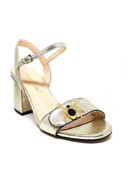 Shop And Shoes 111-41 Kadın Ayakkabı Altın