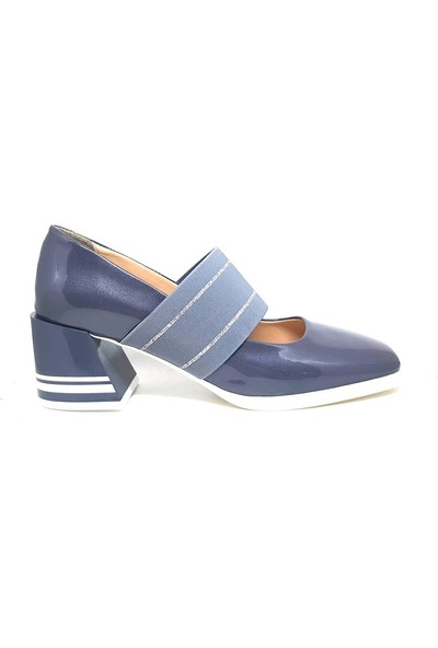 Shop And Shoes 111-79 Kadın Ayakkabı Gri Rugan