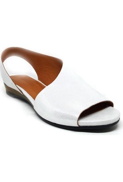 Shop And Shoes 128-590 Kadın Ayakkabı Beyaz Floter