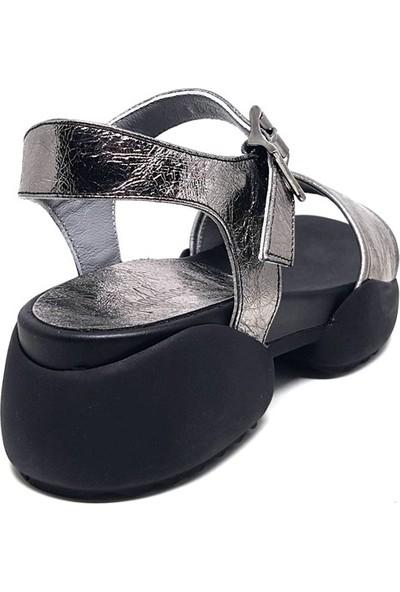 Shop And Shoes 212-9016 Kadın Sandalet Platin