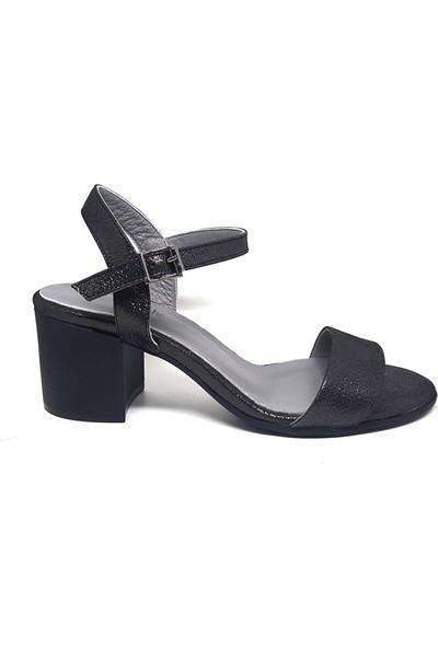 Shop And Shoes 212-9035 Kadın Sandalet Çelik Sim