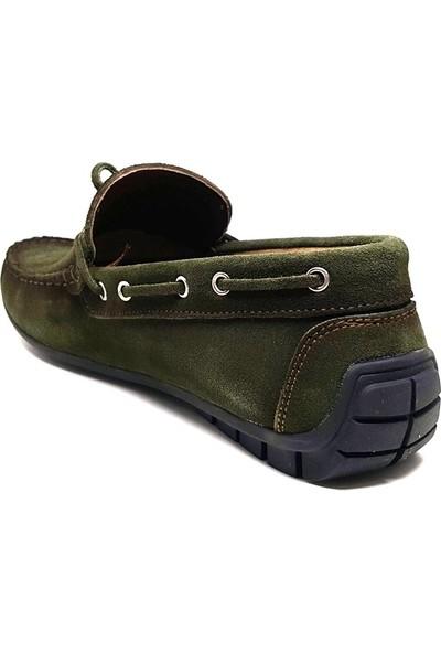 Shop And Shoes 302-712 Erkek Ayakkabı Haki Süet