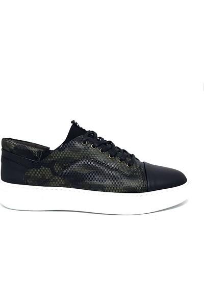 Shop And Shoes 307-399 Erkek Ayakkabı Yeşil Kamuflaj