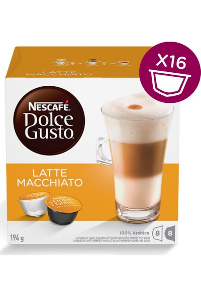 Nescafe Dolce Gusto Latte Macchiato 16 Kapsül