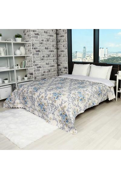 Hepsi Home Çok Amaçlı Yatak Örtüsü 230X250 Cm - Mavi