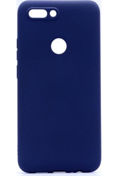Tekno Grup Casper Via F2 Mat Premium Silikon Kılıf - Lacivert + Nano Ekran Koruyucu