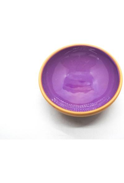 Doğa Çömlekçilik Toprak Kase Reçellik, Sosluk,çerezlik Renkli Sırlı 14'lü 8 cm