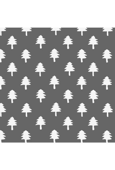 Dekoratif Minik Ev ve Ağaç Yılbaşı Ahşap Bardak Altlığı 4'lü Set