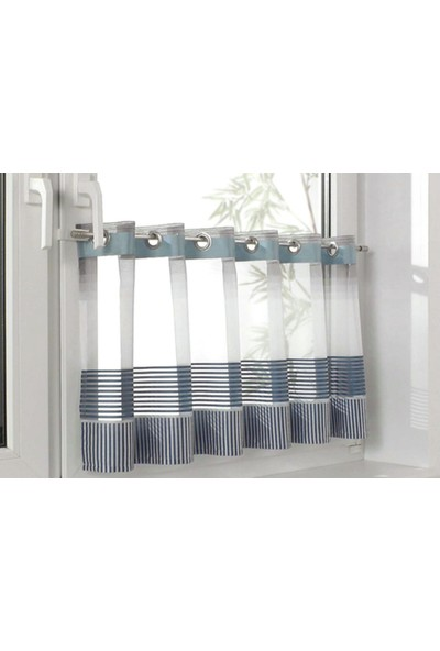 Gardinia Zylinder Vitraj Direği Metal Beyaz 1 Adet - Briz Çubuğu - 80 x 110 cm