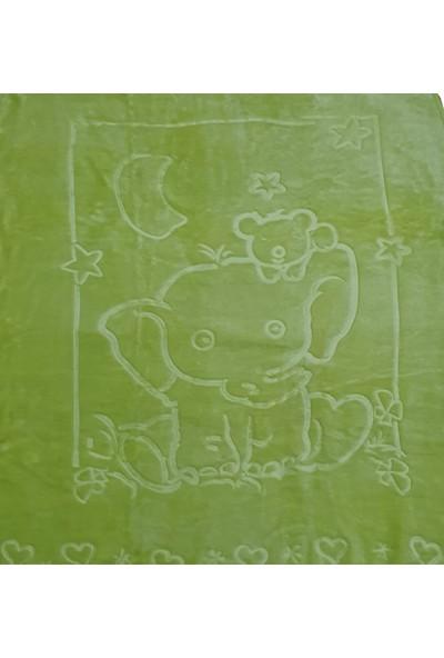 Dinarsu Bebek Battaniye Embos Kabartmalı Yeşil