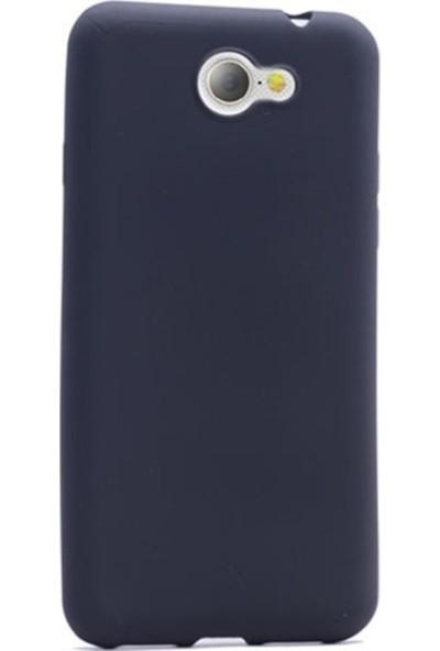 Tekno Grup General Mobile Gm6 Mat Premium Silikon Kılıf - Lacivert + Cam Ekran Koruyucu