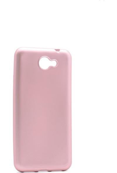 Tekno Grup General Mobile Gm6 Mat Premium Silikon Kılıf - Rose + Nano Ekran Koruyucu