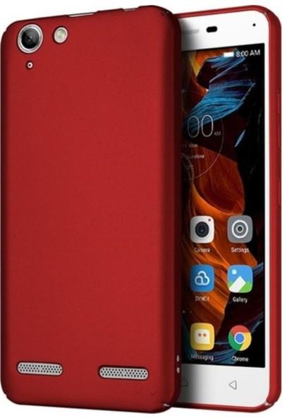 Tekno Grup Lenovo K5 Mat Premium Silikon Kılıf - Kırmızı + Cam Ekran Koruyucu