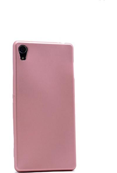 Tekno Grup Sony Xperia Z4 Mat Premium Silikon Kılıf - Rose