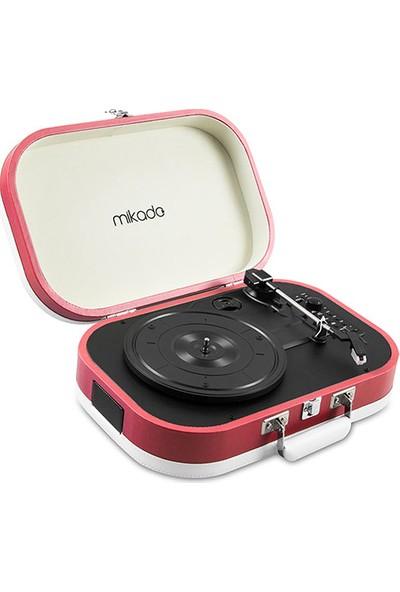 Mikado Nostalgia MN-101 Pikap Mercan Rengi Usb+RCA+Bluetooth Destekli Müzik Kutusu