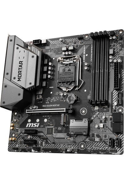 MSI MAG B365M MORTAR Soket 1151 DDR4 2666 HDMI M.2 USB3.1 COM+LPT mATX WIN7 WIN10 Anakart
