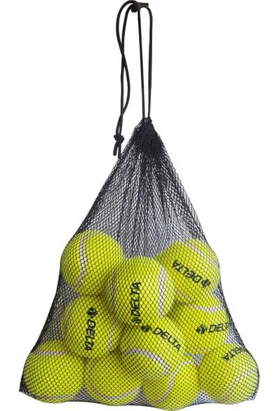 Delta 12 Adet Taşınabilir Filede Sarı Tenis Topu