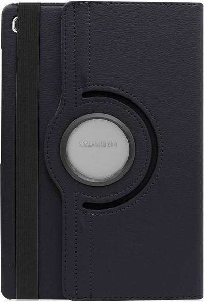 Tbkcase Samsung Galaxy T720 Tab S5E 360 Dönerli Standlı Kılıf Siyah